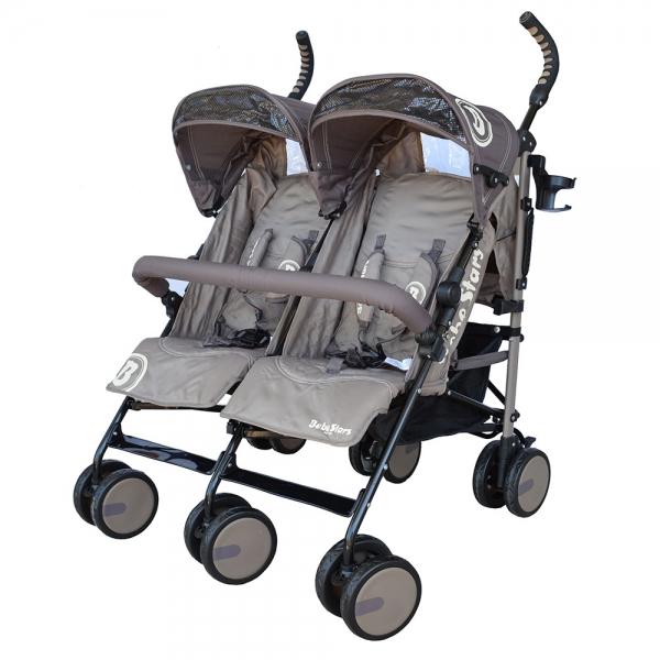 Baby Stroller Twin Lux Brown 7801-182 - image 7801-182-600x600 on https://www.bebestars.gr