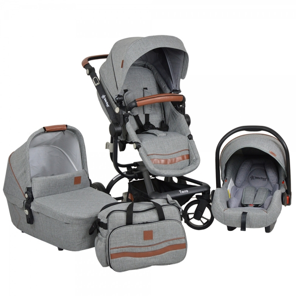 Πολυκαρότσι Torro 3σε1 Grey 360T-188 - image 360T-188-600x600 on https://www.bebestars.gr