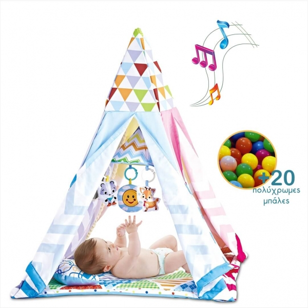 Play tent Gym 302-100 - image 302-100_NOTES-BALLS-600x600 on https://www.bebestars.gr