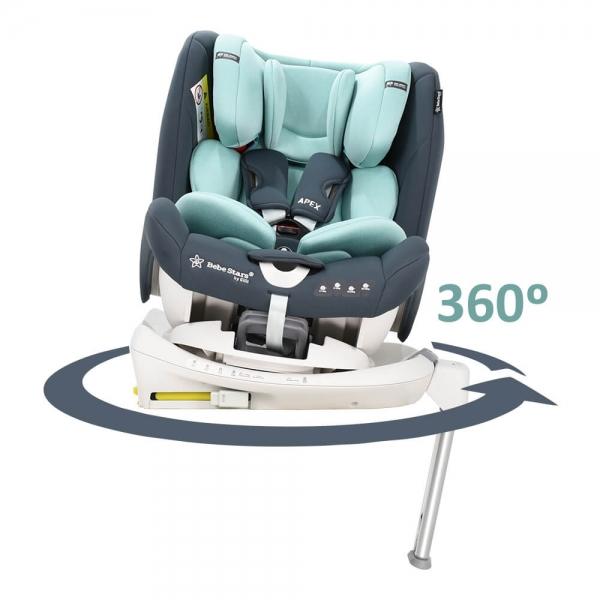 Car seat Apex Isofix 360° Mint  925-184 - image 925-184-360-600x600 on https://www.bebestars.gr