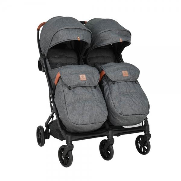 Baby Stroller Twin Gem Grey 7900-186 - image 7900-186-2-600x600 on https://www.bebestars.gr
