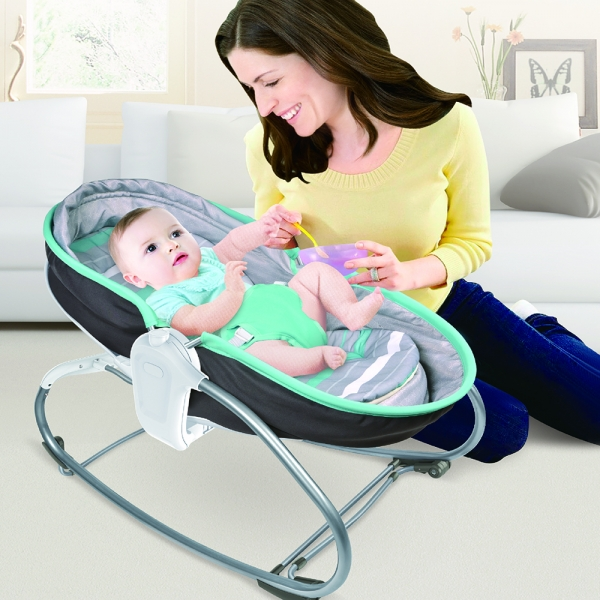 Baby Bouncer & Swing Snooze 3 in 1 Grey 324-186 - image 1-600x600 on https://www.bebestars.gr