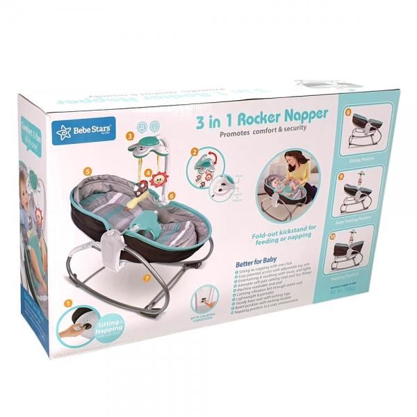 Baby Bouncer & Swing Snooze 3 in 1 Grey 324-186 - image 324-186_b-600x600 on https://www.bebestars.gr